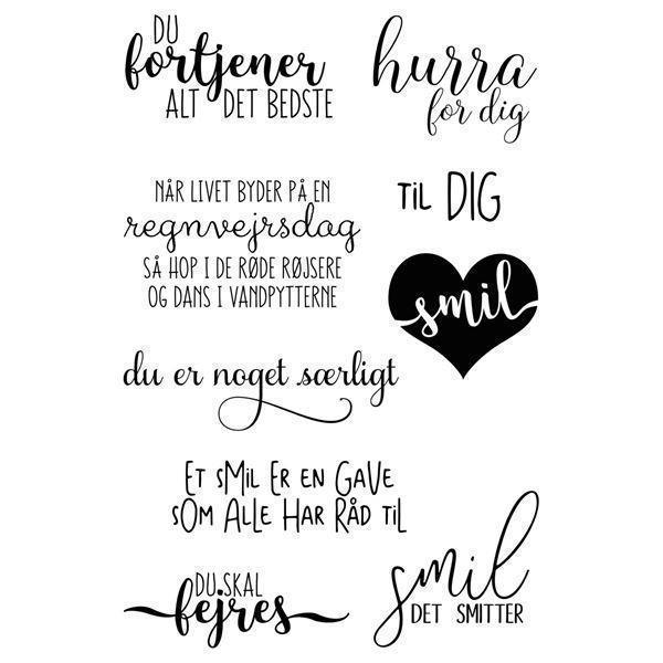 Gitte\'s Eget Design Clearstamp Set - Smil!