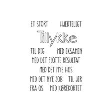 Gitte's Eget Design Clearstamp Set - Tillykke Vol. 2