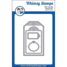 Whimsy Stamps DIE - Stitched Tags