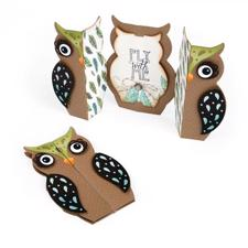 SizzixThinlits Die Set - Fold-a-Long Card / Owl