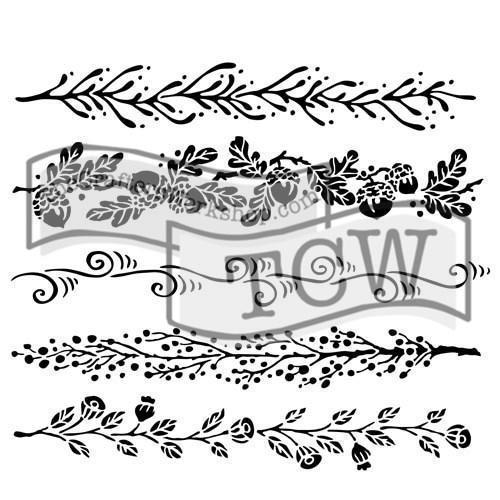 "Crafter\'s Workshop Template 12x12"" - Fanciful Borders"