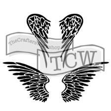 "Crafter's Workshop Template 12x12"" - Angel Wings"