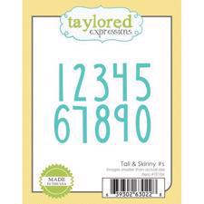 Taylored Expressions Dies - Tall & Skinny #'s