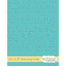 Taylored Expressions Embossing Folder - Sheet Music