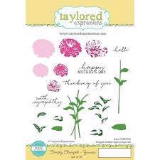 Taylored Expressions Stamps - Simply Stamped Zinnias