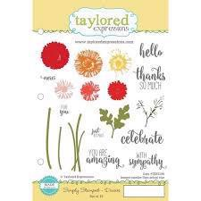 Taylored Expressions Stamps - Simply Stamped Daisies
