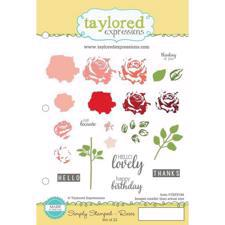 Taylored Expressions Stamps - Simply Stamped Roses