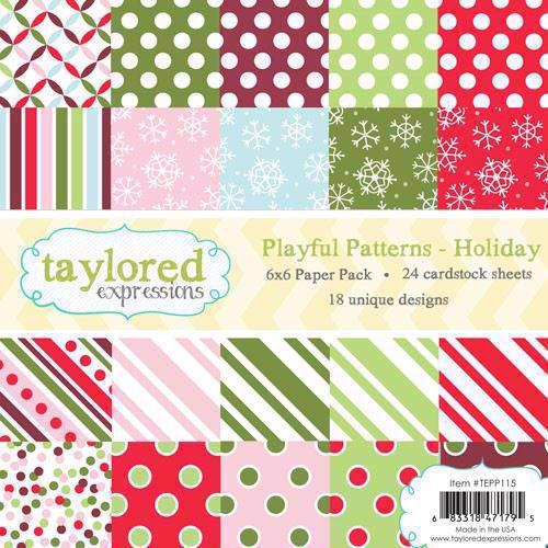 Taylored Expressions Paper Pad - Playfull Patterns / Holiday