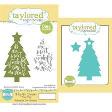 Taylored Expressions Stamp & Die - Flip the Script / Tree Tag