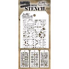 Tim Holtz MINI Stencil Set - #41