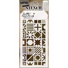 Tim Holtz Layered Stencil - Patchwork Cube