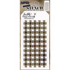 Tim Holtz Layered Stencil - Gingham
