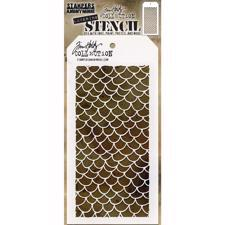 Tim Holtz Layered Stencil - Scales