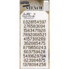 Tim Holtz Layered Stencil - Digits