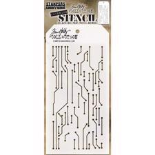 Tim Holtz Layered Stencil - Circuit