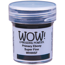 WOW Embossing Pulver - Ebony / Sort - SUPER FINE