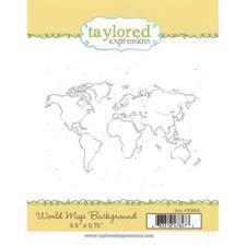 Taylored Expressions Stamps - World Map Background
