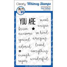 Whimsy Stamps Clear Stamp - You Are