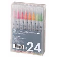 Zig Clean Color Real Brush Marker Set - 24/Pkg