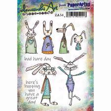 PaperArtsy A5 Cling Stamp - Zinski Art Set No. 54 / Bad Hare Day